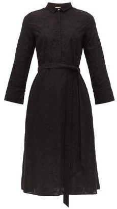Le Sirenuse Le Sirenuse, Positano - Lucy Embroidered Cotton Shirtdress - Womens - Black