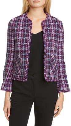 Kate Spade Plaid Tweed Crop Jacket