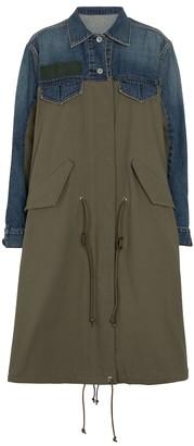 Sacai Cotton and denim coat