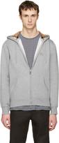 Burberry Grey Clarendon Zip-Up Hoodie