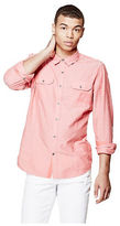 G by Guess GByGUESS Men's Abney Two-Pocket Oxford Shirt
