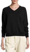 Vince Linen-Cashmere V-Neck Sweater