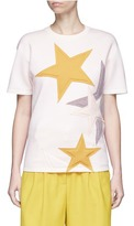 Stella McCartney Padded star appliqué bonded jersey T-shirt