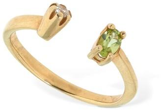 Cornelia Webb Warped Open Ring W/ Stones