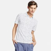 Uniqlo Men's Washed Printed Pique Polo Shirt