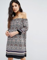 Girls On Film Paisley Print Off The Shoulder Dress