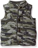 Mud Pie Baby Toddler Boys' Quilted Vest Sherpa Lined