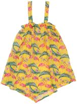 MC2 Saint Barth Flamingo Print Cotton Muslin Cover-Up