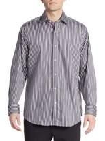 Bugatchi Classic-Fit Striped Sportshirt