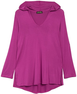 Athena Solid Hooded Cover-Up Tunic