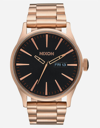 Nixon Sentry SS Rose Gold Watch