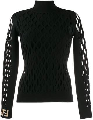 Fendi mesh sleeve jumper
