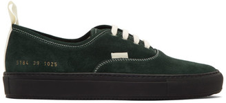 Common Projects Green Four Hole Low Sneakers