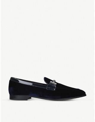 Tod's Double T velvet loafers