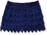Jessica Simpson 7-16 Dayna Crochted Lace Dobby-Pattern Shorts