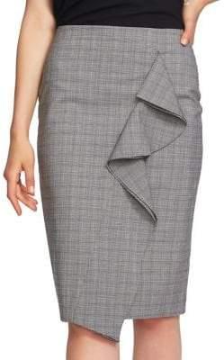 1.STATE Mini Glen Pencil Skirt