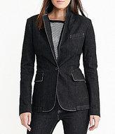 Lauren Ralph Lauren Stretch Denim Single-Button Front Blazer