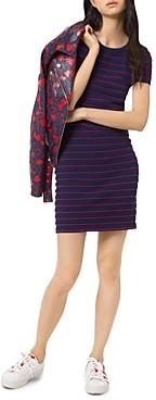MICHAEL Michael Kors Striped Scalloped Mini Dress