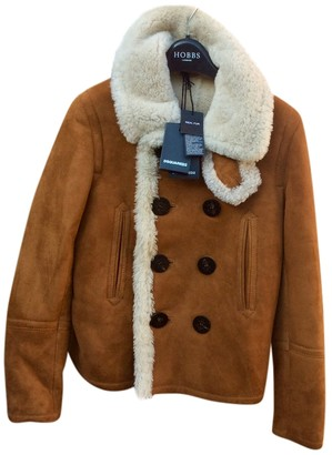 DSQUARED2 Brown Shearling Coat for Women