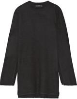 Ellery Soliloquy Oversized Merino Wool Tunic - Black