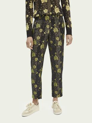 Scotch & Soda Floral jacquard tailored pants   Women