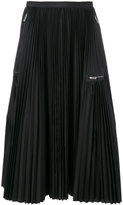 Sacai pleated zip detail skirt
