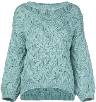 Brunello Cucinelli aran knitted jumper