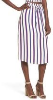 Privacy Please Women's Stripe High Waist Skirt