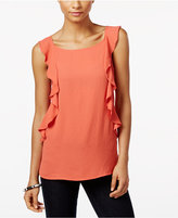 INC International Concepts Petite Ruffle Top, Only at Macy's