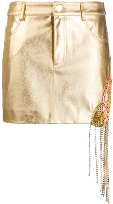 Area Metallic Pencil Skirt