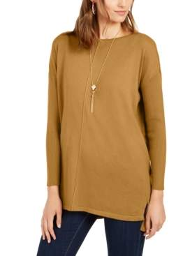 Style&Co. Style & Co Petite Seam-Front Tunic Sweater, Created For Macy's