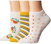 Kate Spade Orangerie 3-Pack No Show Women's No Show Socks Shoes