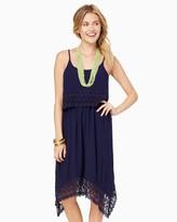Charming charlie Flower Crochet Popover Dress
