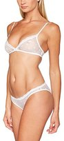 New Look Lingerie Women's Floral Mesh Bralet and Brief Lingerie Set