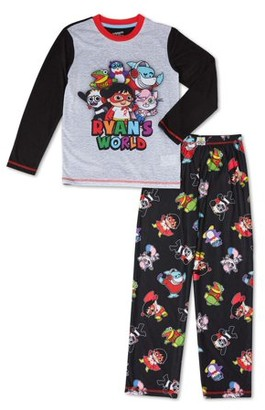 Ryan's World Boys Long Sleeve Long Pant, 2-Piece Pajama Set Sizes 4-12