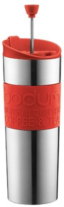 Bodum Travel Press Mug Stainless Steel Red 450ml
