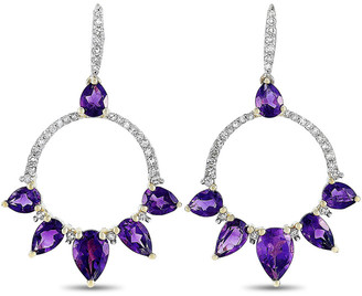 Non Branded Lb Exclusive 14K 2.25 Ct. Tw. Diamond & Amethyst Earrings