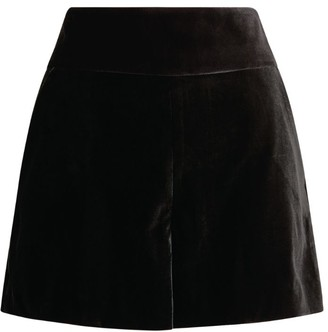 Alice + Olivia Alice+Olivia Velvet Donald High-Rise Shorts