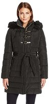 Ivanka Trump Women's Toggle Belted Down Coat