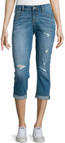 Arizona Roll-Cuff Denim Cropped Jeans