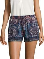 Joie Lindee Constellation-Printed Silk Shorts