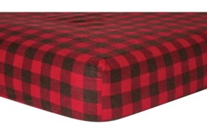 Trend Lab Buffalo Check Flannel Crib Sheet Bedding