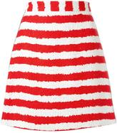 MSGM striped A-line skirt