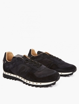 Valentino Black Stud Camoflage Sneakers