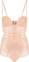 AUTOGRAFO Padded bodysuit in embroidered tulle