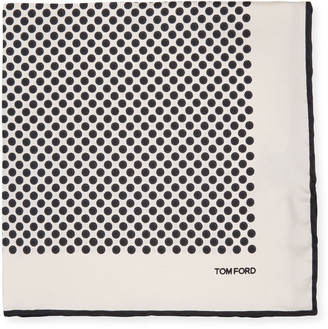 Tom Ford Large Polka Dot Pocket Square