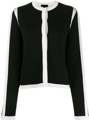 Escada long sleeved contrast-edge cardigan