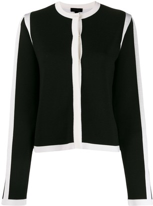 Escada Long Sleeved Contrast-Edge Cardigan