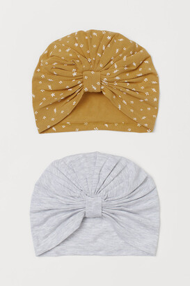 H&M 2-pack Cotton Turbans - Yellow
