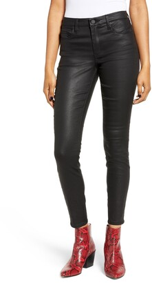 Blank NYC Reptile Texture Coated Mid Rise Jeggings